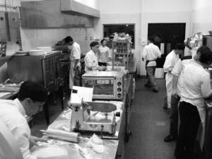 Cocina en marcha