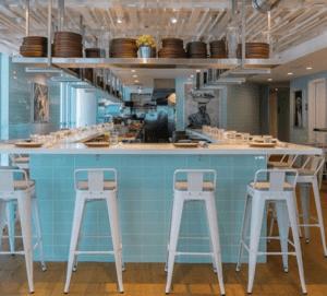 Interior del Local de Obra-Kitchen Table
